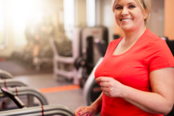 Female on a treadmill