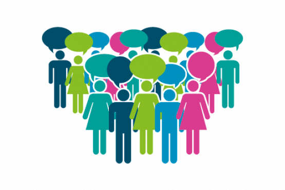 Graphic of a group of people