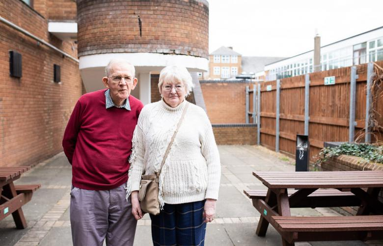 Elderly male & female