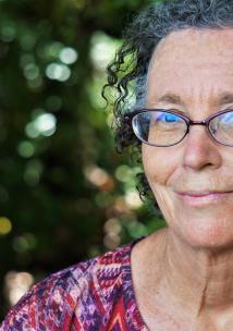 Older lady wearing glasses